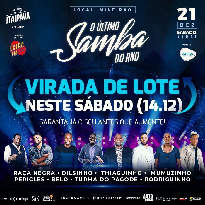 Última oportunidade de comprar ingressos mais baratos para 'O Último Samba do Ano'